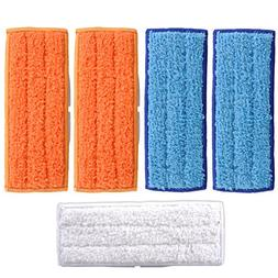 KEEPOW 5 Packs Washable Mopping Pads for iRobot Braava Jet 2