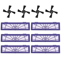 Neutop 6 High Performance Filters 4 Side Brushes Replacement