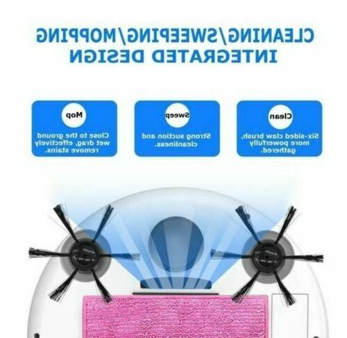 Smart Robotic Cleaner Mop Hair Multi Surface Cleaning