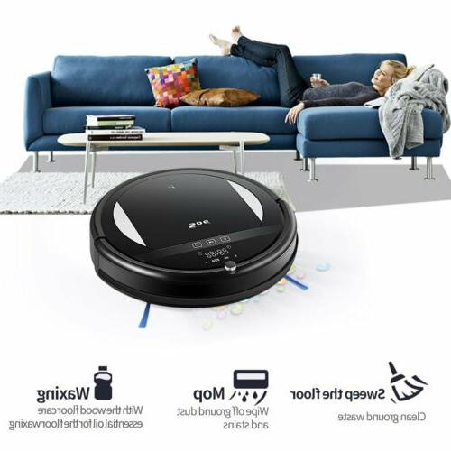 Robot Vacuum Cleaner Mop Central Brush Dry Clean Smart Home