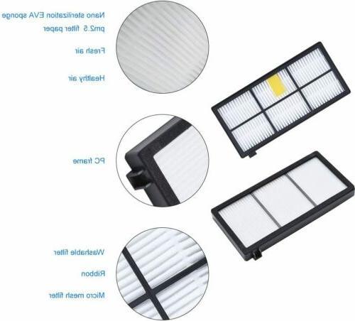 8 Pcs Accessories For 800/900 Series Robotic Vacuum Cleaner