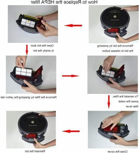 8 Pcs For Irobot Series Vacuum