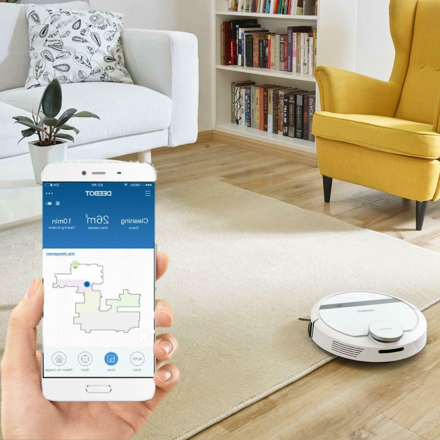 ECOVACS DEEBOT Robotic Vacuum with Mapping Technology Blemished Box