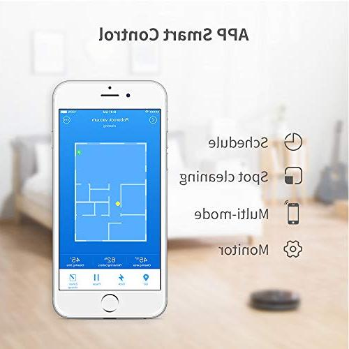 Roborock Robot Cleaner Sweeping and Mopping Robotic Vacuum Cleaning and Pet Hair, Strong and App Control, Route Planning on Hard Floor, Carpet All