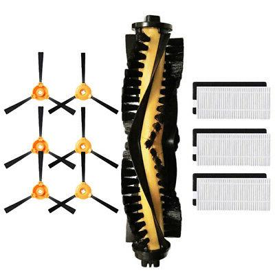 Filter+Main Side Brushes Kit For Ecovacs DEEBOT N79 N79S Rob