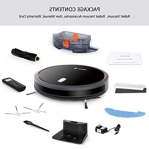 Coredy Robotic Vacuum and Water Tank, High Suction Medium-Pile Carpets, Hard Floor, Filter Self-Charging, Daily