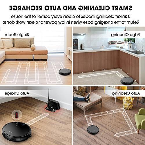 Robot Cleaner KOIOS - 80% Higher Cleaner with & Drop-sensing Technology, HEPA Filter for Fur, 2600mAH Battery Floor Cleaner