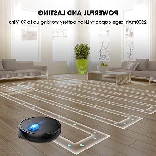 Robot Vacuum Cleaner by KOIOS I3 Higher Vacuum Cleaner Self-charging Drop-sensing for Pet Fur, Battery Cleaner