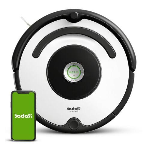 roomba 670 black and white robotic vacuum
