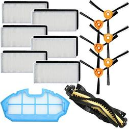 HIFROM Replace Filters Black Sponges Filter Side Brush with
