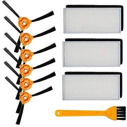 HIFROM Replace Filters Sponges Side Brush with Cleaning Brus