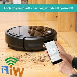 wifi super thin 1300pa suction robotic vacuum